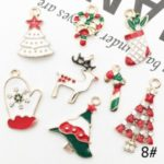 1 Set Christmas DIY Jewelry Accessories Pendant Candy Cane Xmas Tree Decor – Style 8