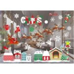 Merry Christmas Window Decal Removable Sticker Wall Sticker Home Decor – Style A