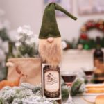 Christmas Wine Bottle Decor Set Old Man Faceless Doll Bottle Cover Kitchen Dinner Decoration – Green