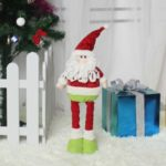 Christmas Telescopic Doll Toy Standing Doll Festival Home Decoration – Santa Claus
