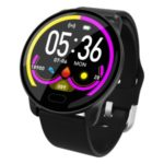 K9 1.22-inch Color Screen Silicone Watchband Smart Bracelet Support Blood Pressure Sleep Monitoring – Black