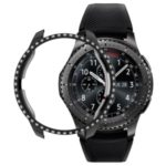 Rhinestone Decor PC Bumper Case for Samsung Galaxy Watch 42mm – Black