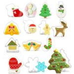 14PCS/Set Stainless Steel Cookie Xmas Holidays Cookies Molds Tool