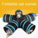 Folding Cat Tunnel Kitten Play and Rest Product Five Channels Pet Tunnel Toys