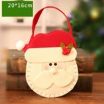 Christmas Eve Apple Bag Candy Gift Presents Storage Bag for Christmas Home Indoor Party Decoration – Santa Claus