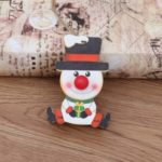 Xmas Decoration Hanging Ornament Christmas Tree Wooden Shiny Pendant – Snowman
