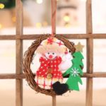 Christmas Hanging Wreath Garland Wall Door Ornaments Xmas Festive Decoration – Snowman