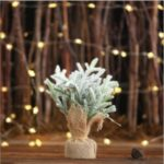 Mini Linen PE Christmas Tree Desktop Ornaments Christmas Party Decoration – Small Size