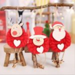 3PCS/Set Xmas Doll Decoration Pendant Christmas Tree Hanging Ornaments – Red