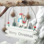 Merry Christmas Wood Plate Door Hanging Wooden Pendant Home Decoration – Standing Style
