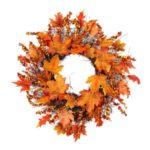Fall Maple Leaf Garland Hanging Fall Leaves Thanksgiving Christmas Front Door Decor