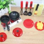 13PCS Utensils Cooking Pots Pans Food Dishes Kids Cookware