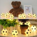10-LED 2.13m Soccer Football LED String Light for World Cup Theme Parties Home Decoration – Warm White