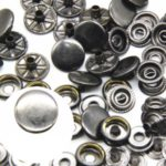 25Pcs/Set 15mm Metal Snap Button with Fastener Installation Tool for Clothes and Leather – Black
