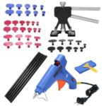49pcs Auto Car Body Paintless Dent Puller Dent Lifter Repairing Removal Hail Glue Machine Tools Kit – EU Plug/Black