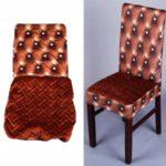 Stretch Chair Cover Removable Elastic Chair Protector for Hotel Dining Room Office – Coffee
