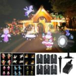 Animated Led Projector Remote Control Light Christmas Halloween Projector Light – US Plug