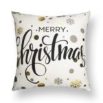 Christams Series Lacquered Throw Pillow Cover Linen Cotton Cover, Size: 45 x 45cm – Style 301