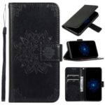 Imprint Kaleidoscope Leather Stand Wallet Cover with Lanyard for iPhone 8 / 7 4.7-inch – Black