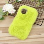 Rabbit Soft Fur Coated TPU Casing Shell for iPhone 11 6.1 inch – Light Green