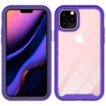 Anti-shock TPU + Plastic + Acrylic Hybrid Clear Back Cover for iPhone 11 Pro 5.8 inch – Purple