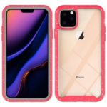 Anti-shock TPU + Plastic + Acrylic Hybrid Clear Back Protective Case for iPhone 11 Pro Max 6.5 inch – Red