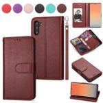 9 Card Slots PU Leather Stand Case for Samsung Galaxy Note 10 5G / Note 10 – Brown