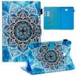 Printing PU Leather Stand Tablet Cover for Samsung Galaxy Tab A 10.1 (2016)/T580/T585 – Malanda Flower