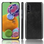 Litchi Skin Leather Coated Hard PC Case for Samsung Galaxy A90 5G – Black