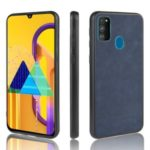 Leather Coated TPU Case for Samsung Galaxy M30s – Blue