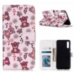 Embossed Pattern TPU Back Case for Samsung Galaxy A50s – Bear