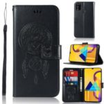 Imprinted Unique Dream Catcher Owl Leather Casing for Samsung Galaxy M30s – Black