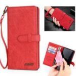 MEGSHI Wallet Flip Leather Phone Cover for Samsung Galaxy A30/A20 – Red
