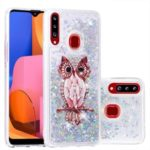 Dynamic Glittery Sequins TPU Shell Case for Samsung Galaxy A20s – Owl