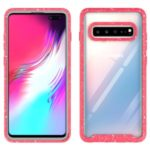 Starry Sky Shockproof Clear Phone Case for Samsung Galaxy S10 5G – Red