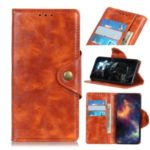 Wallet Leather Stand Case for LG G8X ThinQ – Orange