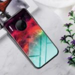 Gradient Color Tempered Glass + PC + TPU Hybrid Phone Casing for Huawei Mate 30 Pro – Colorful Nebula