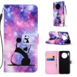 Pattern Printing PU Leather Wallet Phone Cover for Huawei Mate 30 – Cute Panda