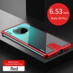 LENUO Leshield Series Metal Frame + Hard Glass Case for Huawei Mate 30 Pro – Red