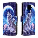 3D Printing Leather Phone Shell for Huawei Mate 30 Lite/nova 5i Pro – Moon and Wolf