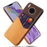 KSQ PC + PU + Cloth Shell with Card Slot Phone Case for Huawei Mate 30 Pro – Brown