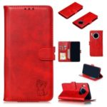 Imprint Cat Surface Leather Cell Shell Case for Huawei Mate 30 Pro – Red