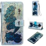 Pattern Printing Glitter Sequins Leather Wallet Phone Case for Huawei Mate 30 Pro – Mermaid
