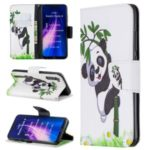 Pattern Printing Cross Texture Wallet Stand Flip Leather Case for Xiaomi Redmi Note 8 – Bamboo Panda