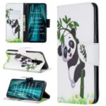 Pattern Printing Cross Texture Wallet Stand Flip Leather Case for Xiaomi Redmi Note 8 Pro – Bamboo Panda