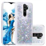 Floating Glitter Sequins TPU Cell Shell Cover for Xiaomi Redmi Note 8 Pro – Silver