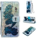 Pattern Printing Glitter Sequins Leather Wallet Phone Case for Xiaomi Redmi Note 8 Pro – Mermaid