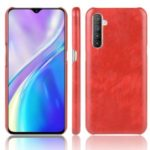 Litchi Skin Style PU Leather Coated PC Back Case for OPPO K5/Realme XT/Realme X2 – Red