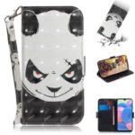 Pattern Printing Light Spot Decor Wallet Stand Leather Phone Case Cover with Strap for Nokia 7.2 – Panda