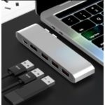 29009 5 in 1 USB 3.0 Type-C Multi Port Hub HDMI Video Adapter PD Fast Charger
